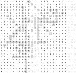April 2017 Puzzle Key